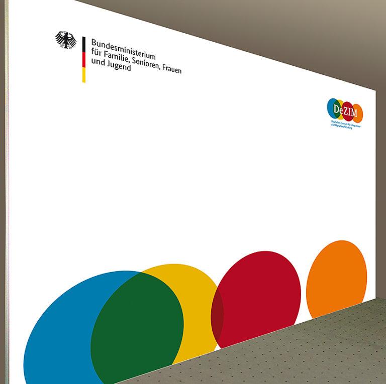 günstige Pressewand Bundesministerium 400 x 300 cm