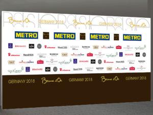Logowand 500 x 250 cm