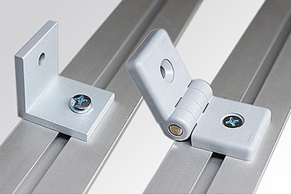 Messewand-Verbinder, Verbindung im rechten Winkel oder mit Scharnier-Verbindern in jedem Winkel