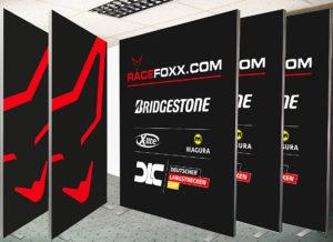 Messewand Bridgestone 100 x 250 und 200 x 250 cm