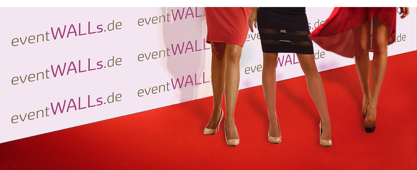 Die perfekte Sponsorenwand für den roten Teppich, eine problemlose Pressewand.