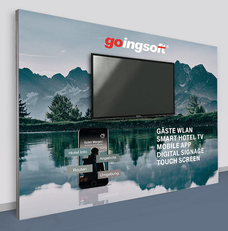 Sponsorenwand 300 x 250 mit Monitor