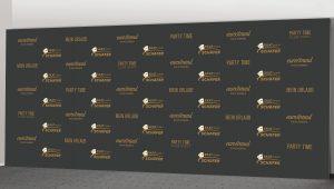 Pressewand 600 x 250 cm