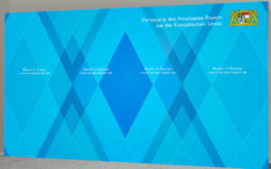 Pressewand 500 x 300 cm Bayern in Brüssel