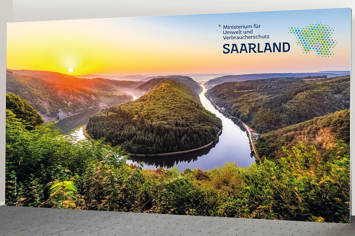 Pressewand Saarland 400 x 230 cm