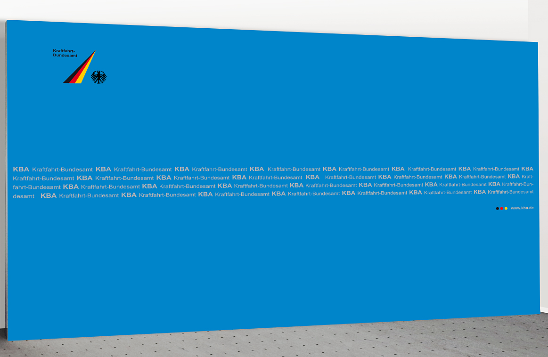 Pressewand KBA 400 x 250 cm