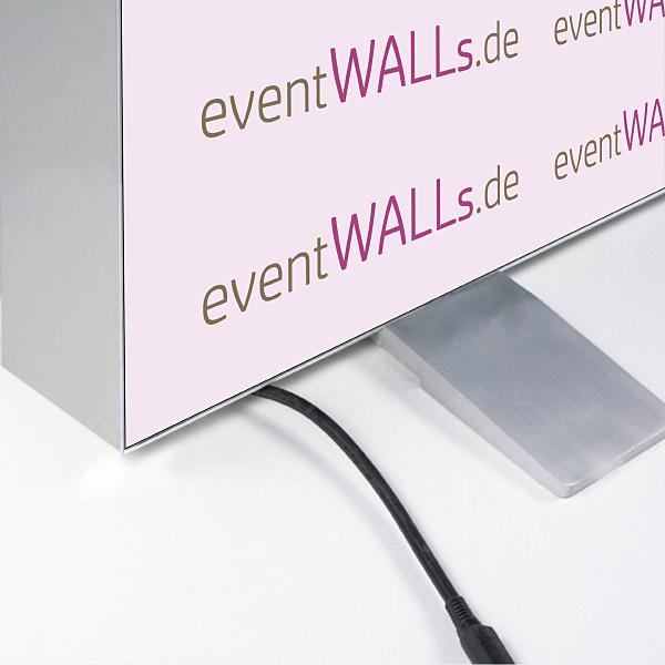 LED Messewand Rahmen-Ecke, stabile Standfüße