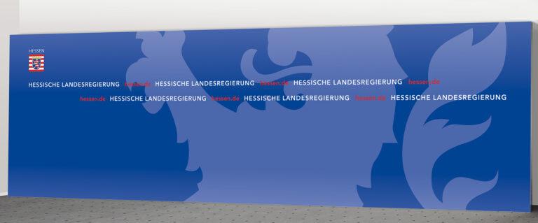 Pressewand Hessen 800 x 250 cm