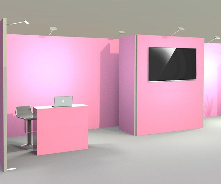 Messestand-System für individuelle Präsentation auf jeder Standfläche