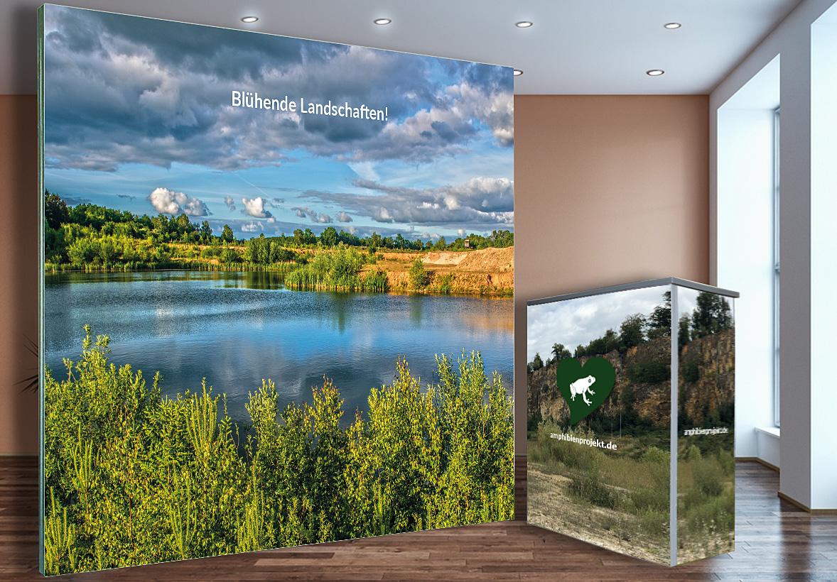 Messewand 250 x 200 cm + Counter 80 cm
